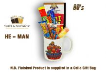 He-Man and the Masters of the Universe Mug - with/without an eternian selection of 80's Retro Sweets